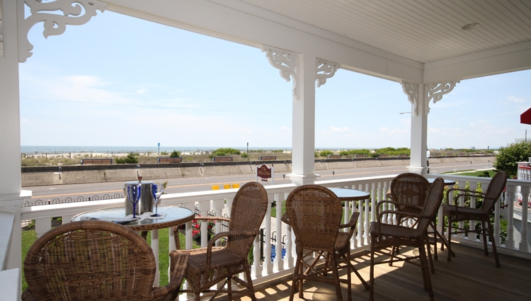 porch at 931 beach guest house cape may, new jersey